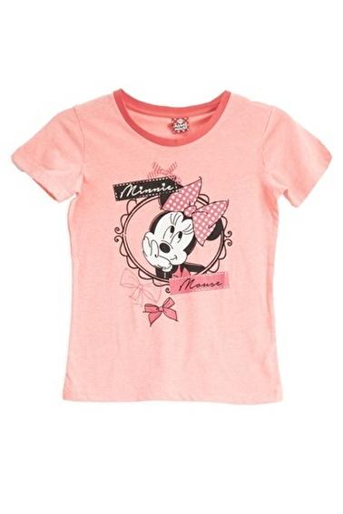 Mickey Mouse Mickey & Minnie Mouse Lisanslı Açık Gri Kız Çocuk T-Shirt Oranj